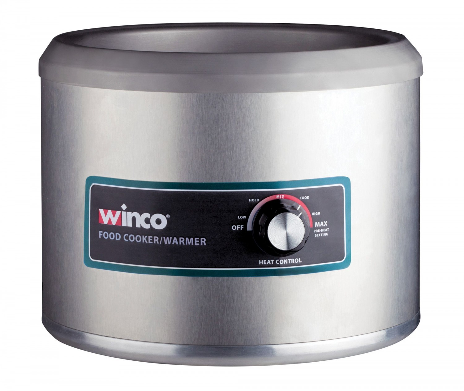 Winco FW-11R500 Round Food Warmer / Cooker, 11 Qt., 120V, 1250 W