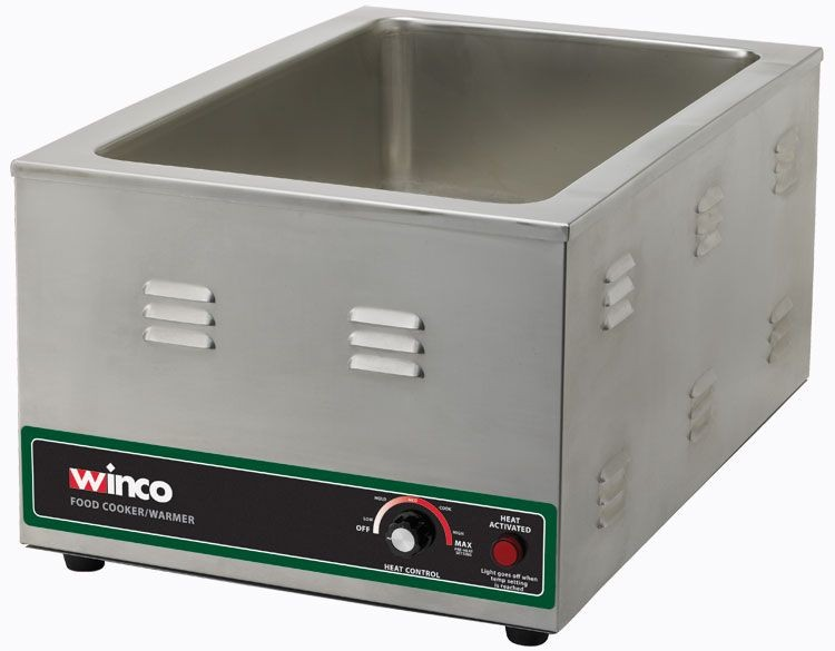 Winco FW-S600 Electric Countertop Food Warmer / Cooker 1500W