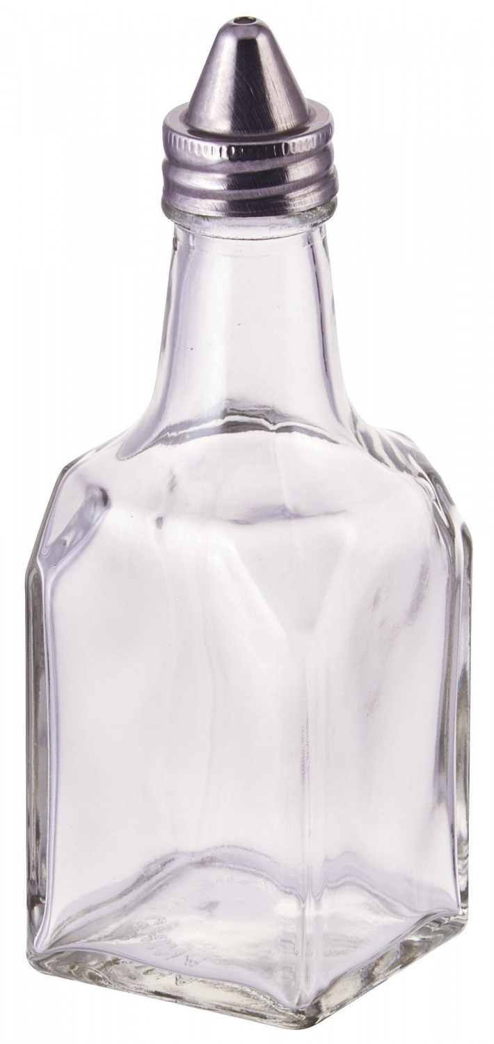 Winco G-104 Glass Oil and Vinegar Cruet 6 oz. - 1 doz