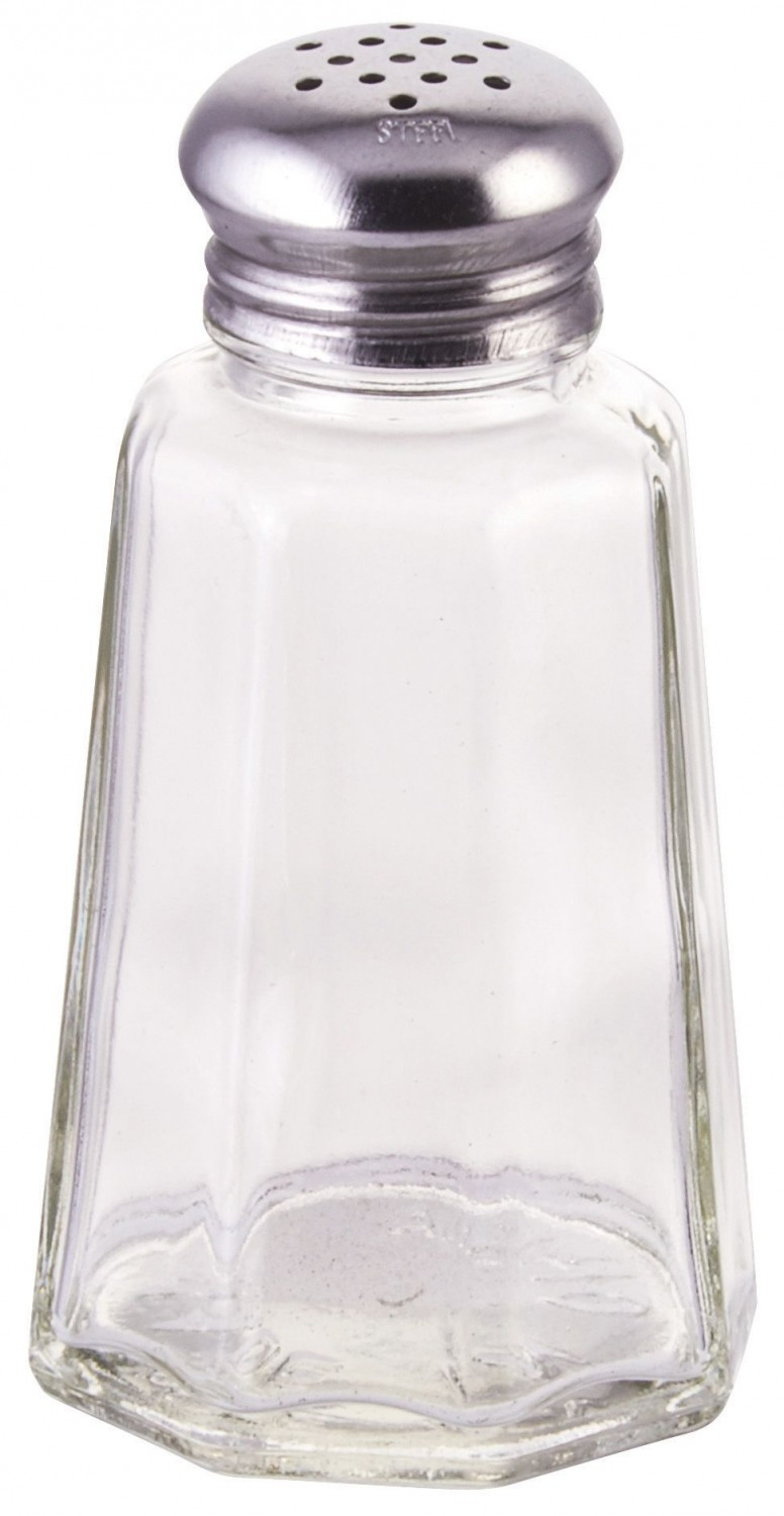 Winco G-106 Paneled Glass Shaker with Mushroom Top 2 oz. - 1 doz