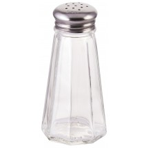Winco G-117 Paneled Glass Shaker with Mushroom Top 3 oz. - 1 doz