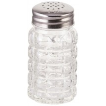 Winco G-118 Glass Classic 2 Oz Shaker with Flat Top - 1 doz