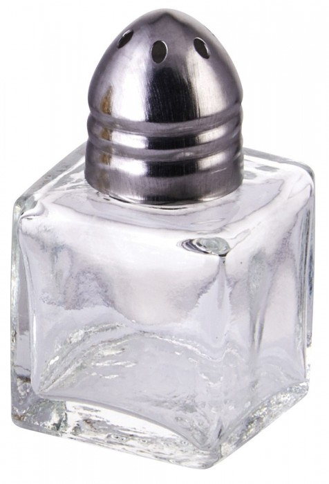 Winco G-300 1/2 Oz. Square Shaker with Chrome Plated Top