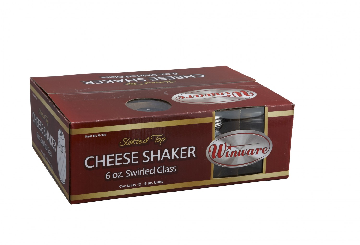 Winco G-308 Cheese Shaker with Slotted Top 6 oz. - doz