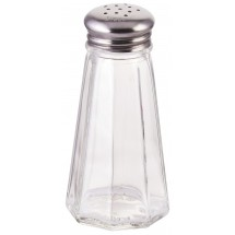 Winco G-317 Paneled Shaker with Mushroom Top 3 oz. - 1 doz.