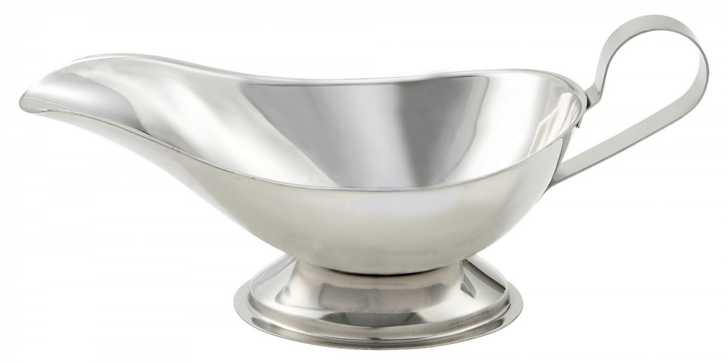 Winco GBS-10 Stainless Steel Gravy Boat 10 oz .