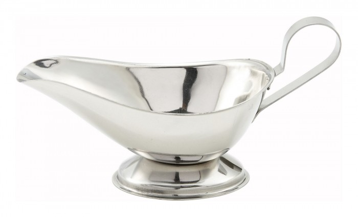 Winco GBS-3 Stainless Steel Gravy Boat 3 oz.