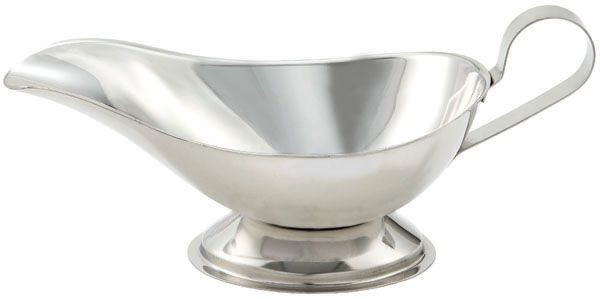 Winco GBS-8 Stainless Steel Gravy Boat 8 oz.