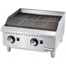 Winco GCB-24R Spectrum Gas Radiant Countertop Char Broiler 24""