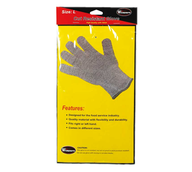 Winco GCR-L Cut Resistant Gloves, Large