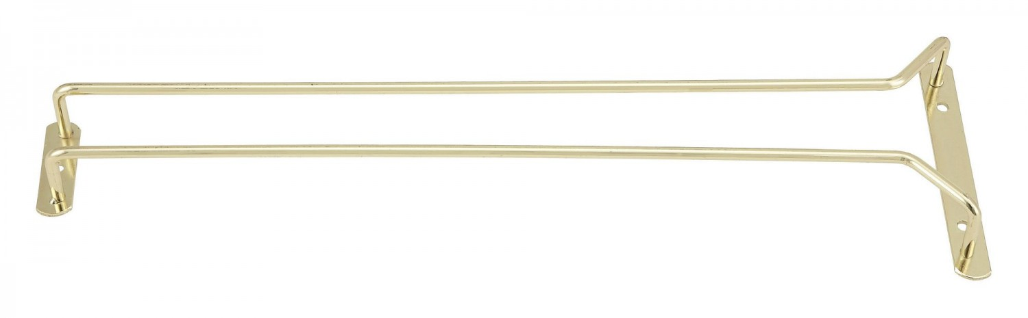 Winco GH-16 Brass Plated Wire Glass Hanger 16""