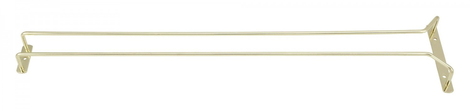 Winco GH-24 Brass Plated Wire Glass Hanger 24""