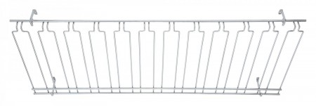 "Winco GHC-1848 Overhead Glass Rack 18"" x 48"" x 4"""