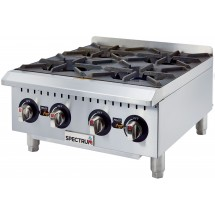 Winco GHP-4 Spectrum Gas 4 Open Burner Hot Plate