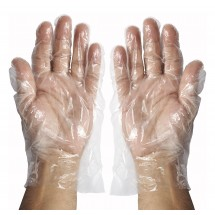 Winco GLP-L Large Polyethylene Disposable Textured Gloves - 500 Pieces