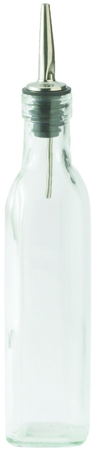 Winco GOB-8 Oil / Vinegar Cruet Bottle with Top 8 oz.