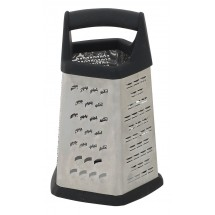 Winco GT-401 5 Sided Grater With Black Soft Grip Handle, Anti-Slip Feet