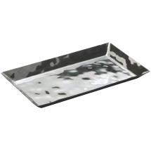 "Winco HPO-14 Hammered Steel Serving / Display Tray 13-3/4"" x 7-3/4"" x 1"""