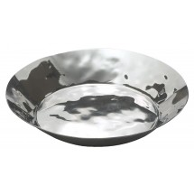 "Winco HPR-10 Hammered Steel Round Serving / Display Tray 10-1/4"" Dia. x 1-5/8""H"