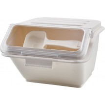 Winco IB-2S White Shelf Ingredient Bin 2 Gallon