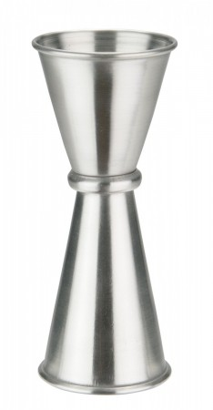 Winco J-8 Japanese-Style Stainless Steel Jigger, 1 oz. x 1.25 oz.