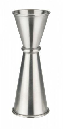 Winco J-9 Japanese-Style Stainless Steel Jigger, 1 oz. x 2 oz.