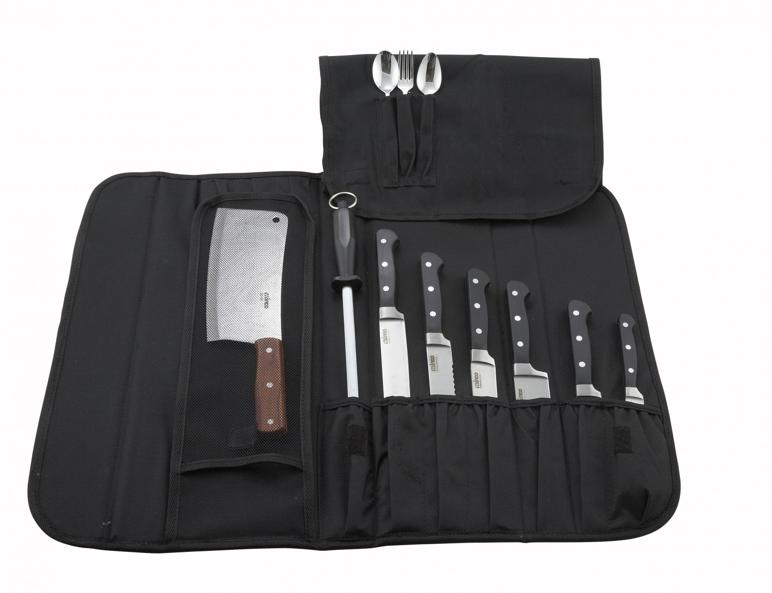 Winco KBG-10 Black Cutlery Knife Bag