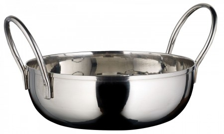 Winco KDB-5 Stainless Steel Serving Kady Bowl with Welded Handles, 20 oz.