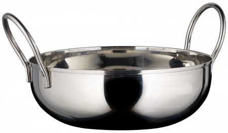 Winco KDB-6 Stainless Steel Serving Kady Bowl with Welded Handles, 28 oz.