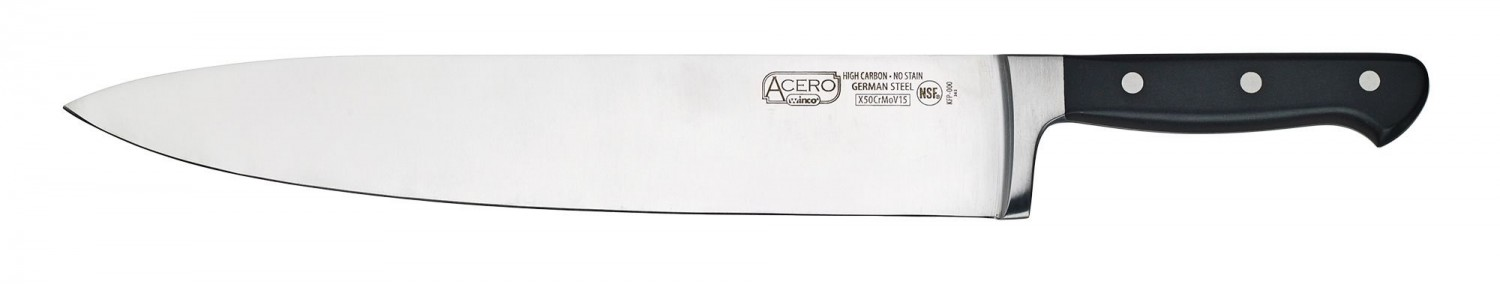 Winco KFP-120 One-Piece Full Tang Chef Knife 12""