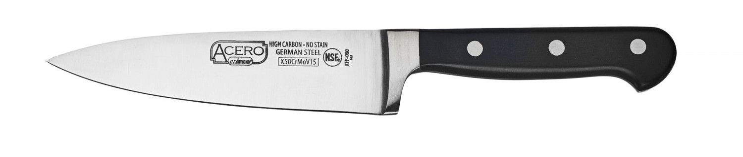 Winco KFP-60 One Piece Chef Knife 6""