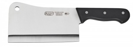 Winco KFP-72 Acero Full Tang Cleaver with Triple Riveted Handle 7""