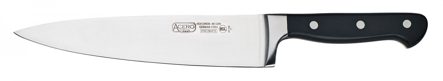 Winco KFP-80 One Piece Chef Knife 8""