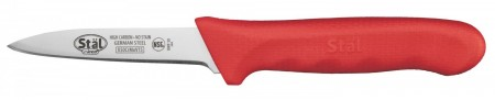 """Winco KWP-30R Paring Knife with Red Handle 3-1-/4"""" - 2 pieces"""