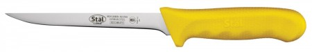Winco KWP-61Y Narrow Boning Knife with Yellow Handle 6""