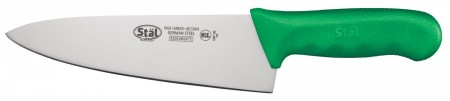 """Winco KWP-80G Cook's Knife with Green Handle 8"""""""