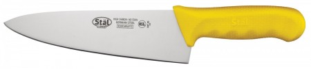 """Winco KWP-80Y Cook's Knife with Yellow Handle 8"""""""