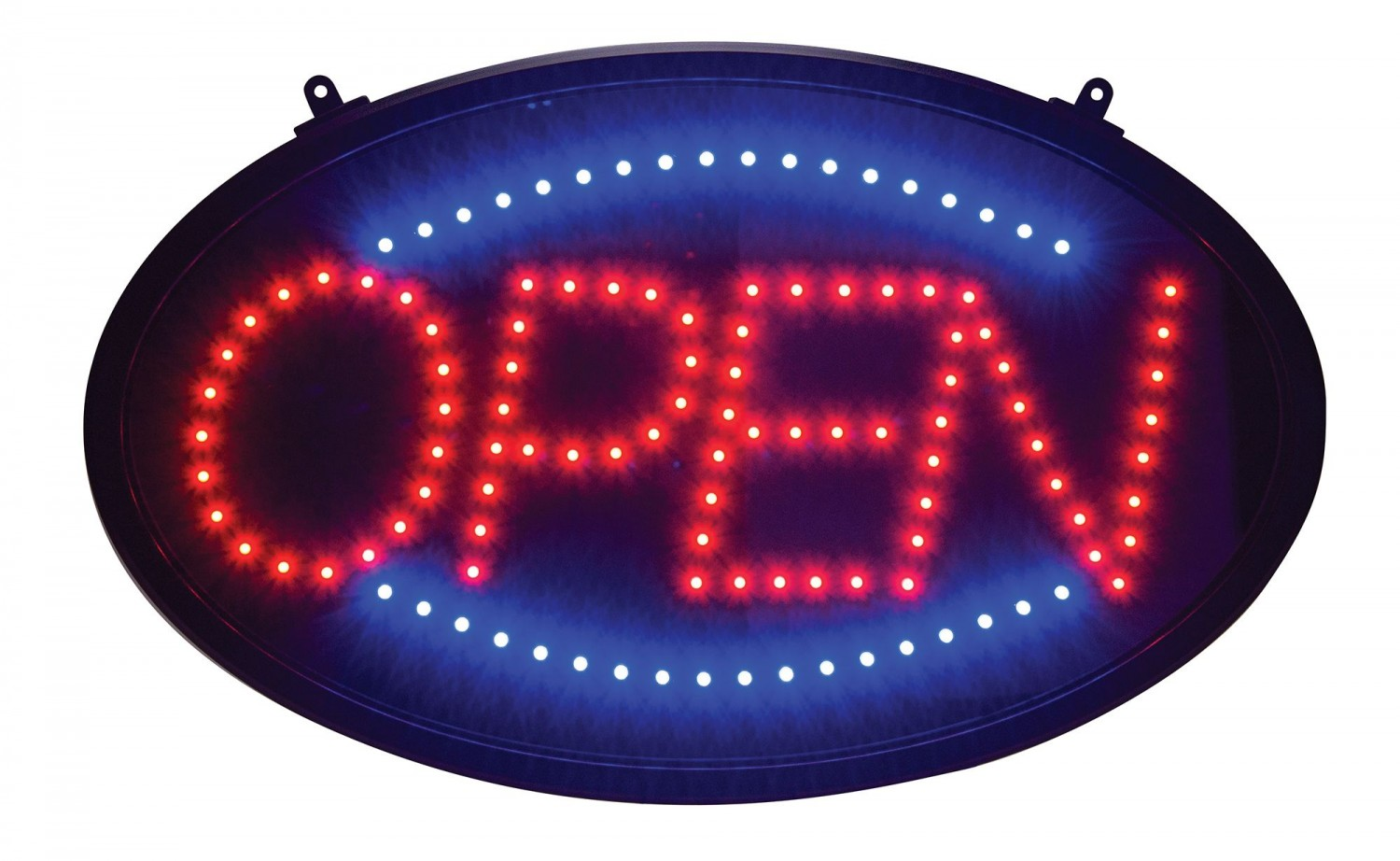 "Winco LED-10 LED ""Open"" Sign With Dust Proof Cover 2-4/5"" x 23-1/10"""