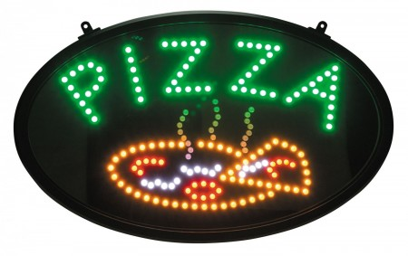 "Winco LED-11 LED ""Pizza"" Sign with Dust Proof Cover"