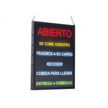 """Winco LED-21 All-in-One """"OPEN"""" LED Sign, Spanish"""