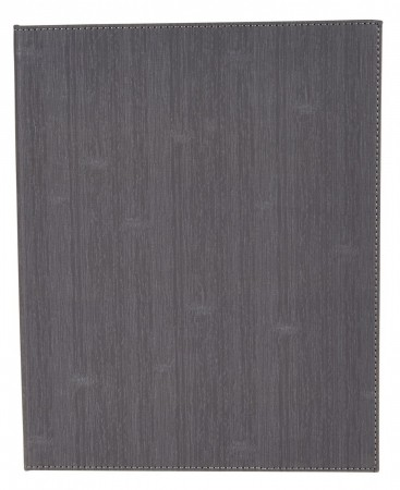 """Winco LMF-814GY Gray Leatherette Four Panel Menu Cover 8-1/2"""" x 14"""""""