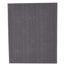 Winco LMF-814GY Gray Leatherette Four Panel Menu Cover 8-1/2 x 14""