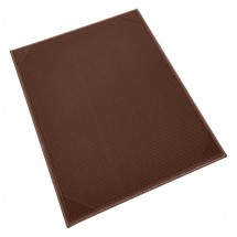 "Winco LMS-811BN Brown Leatherette Single Panel Menu Cover 8-1/2"" x 11"""