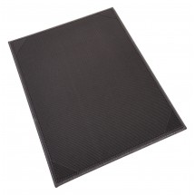 "Winco LMS-811GY Gray Leatherette Single Panel Menu Cover 8-1/2"" x 11"""