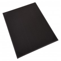 Winco LMS-814BK Black Leatherette Single Panel Menu Cover 8-1/2 x 14""