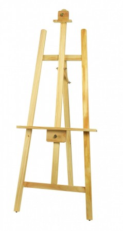 """Winco MBBE-1 Display Easel with Wooden Frame, Natural Finish 24"""" x 62"""""""