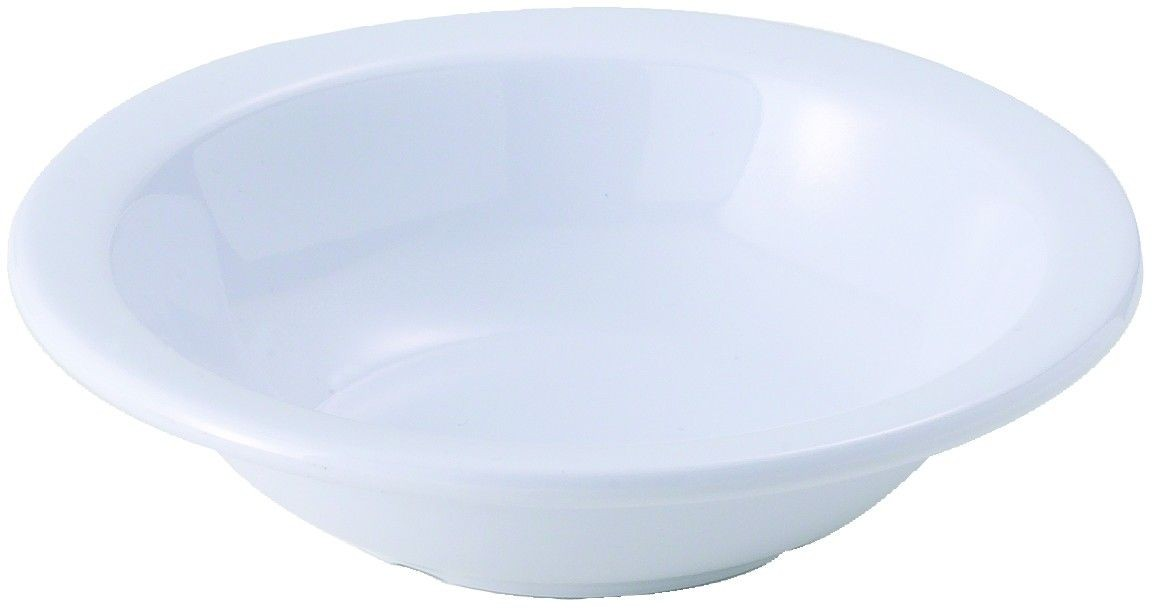 Winco MMB-13W White Melamine Grapefruit Bowl 13 oz. - 1 doz