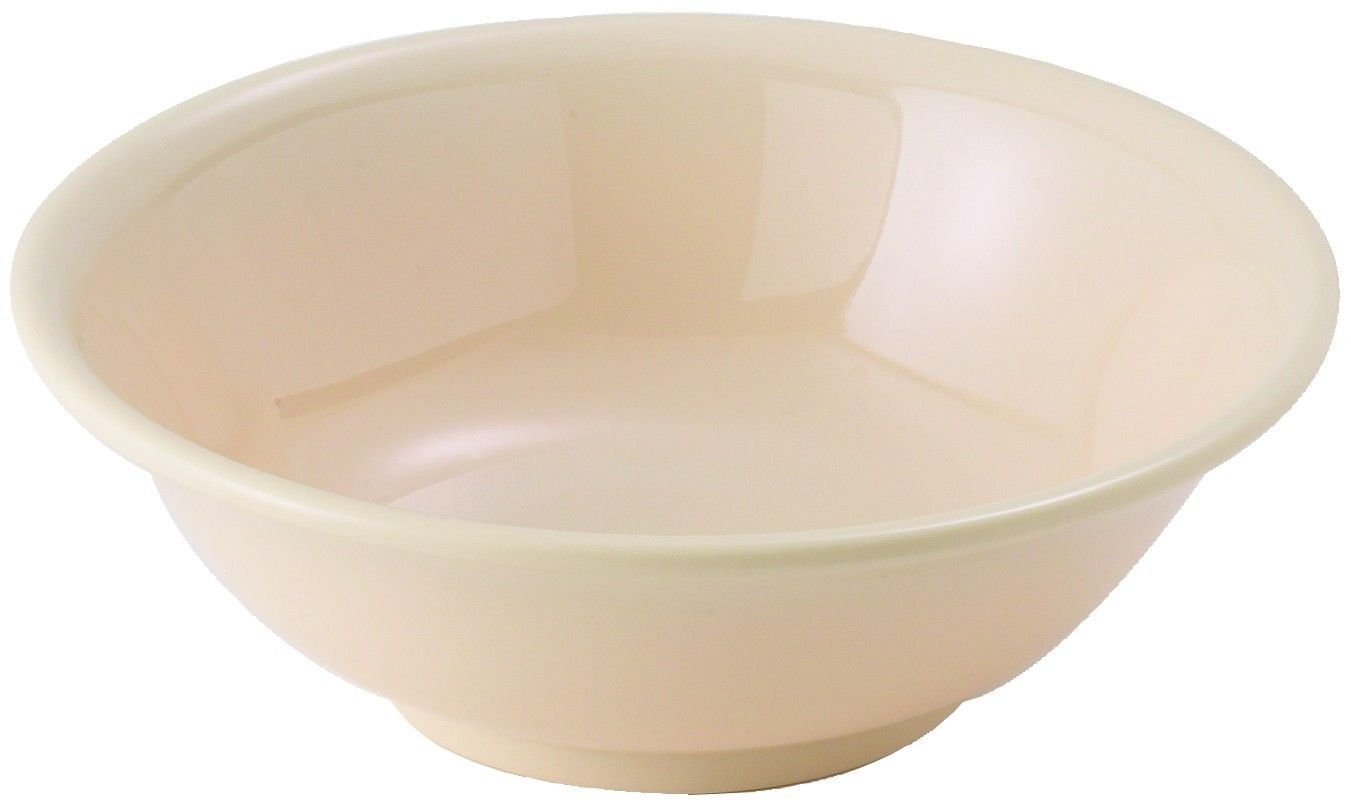 Winco MMB-22 Tan Melamine Rimless Bowl 22 oz. - 1 doz