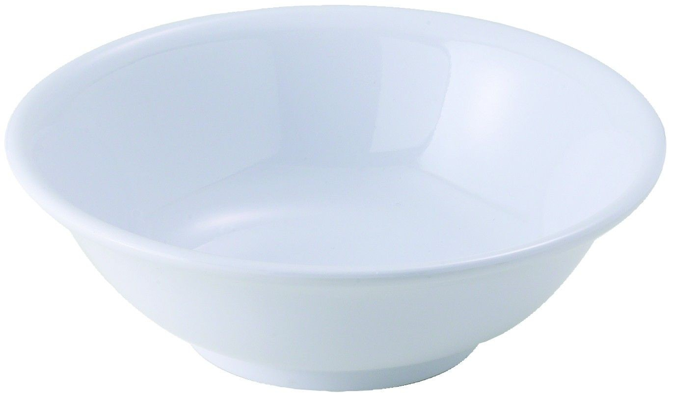 Winco MMB-22W White Melamine Rimless Bowl, 22 oz. - 1 doz