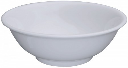 Winco MMB-32W White Melamine Rimless Bowl 32 oz.